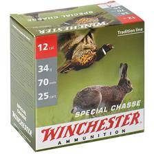 Cartouche de chasse winchester special chasse - 34g - calibre 12/70
