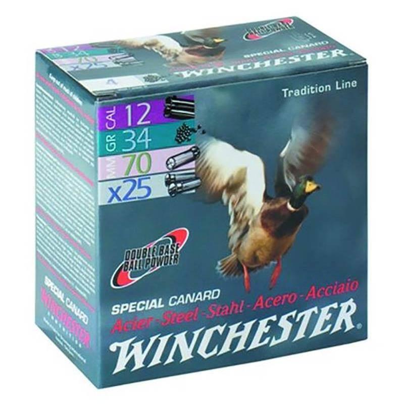 Cartouche De Chasse Winchester Special Canard Acier - 34G - Calibre 12