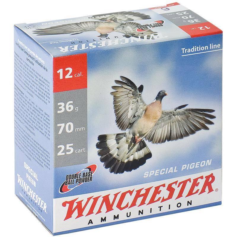 Cartouche De Chasse Winchester Special Pigeon - 36G - Calibre 12/70