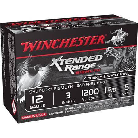 CARTOUCHE DE CHASSE WINCHESTER XTENDED BISMUTH - 46G - CALIBRE 12/76