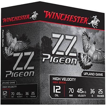 CARTOUCHE DE CHASSE WINCHESTER ZZ PIGEON - 30G - CALIBRE 12