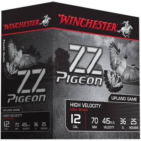 Cartouche De Chasse Winchester Zz Pigeon - 36G - Calibre 12/70