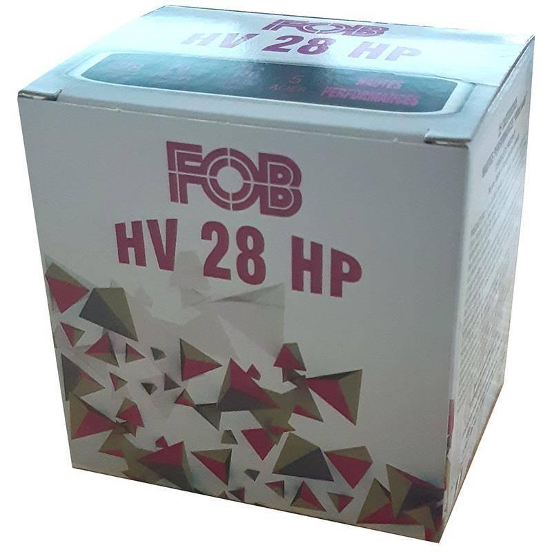 Cartouche De Fusil Fob Acier Hv 28 Hp - 28G - Calibre 28