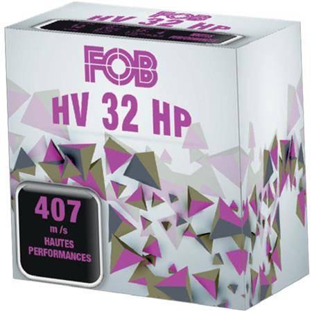 CARTOUCHE DE FUSIL FOB ACIER HV 32 HP - 32G - CALIBRE 12