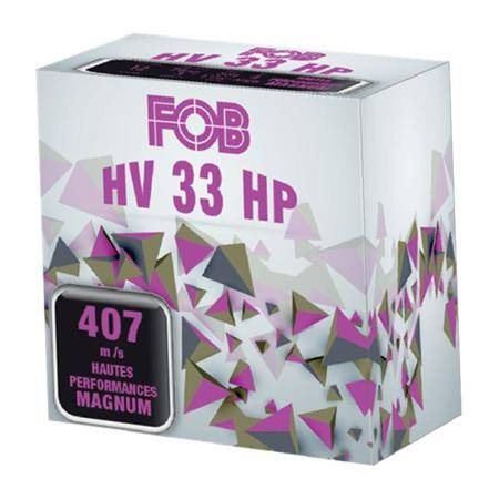 CARTOUCHE DE FUSIL FOB ACIER HV 33 MAGNUM - 33G - CALIBRE 12