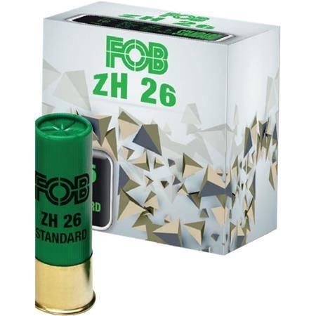 CARTOUCHE DE FUSIL FOB ACIER ZH 26 STANDARD - 26G - CALIBRE 12