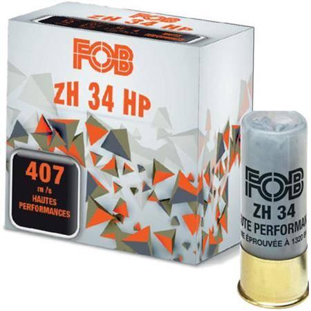 CARTOUCHE DE FUSIL FOB ACIER ZH 34 HP - 34G - CALIBRE 12