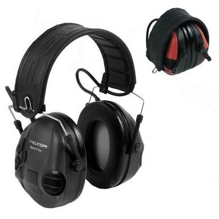 Casque Anti Bruit Electronique Peltor Sporttac Noir