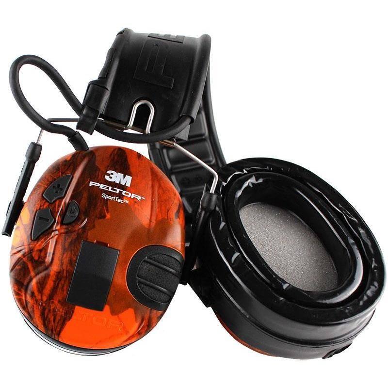 Casque Anti Bruit Peltor 3M Sporttac + Kit Gel - Camo / Orange