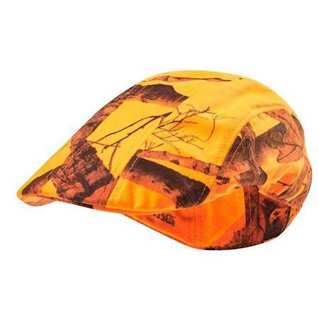Casquette Homme Deerhunter Flat Cap - Orange Camo