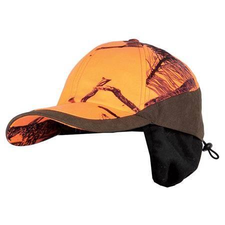 Casquette Homme Somlys 906C Avec Cache Oreille - Camou Orange