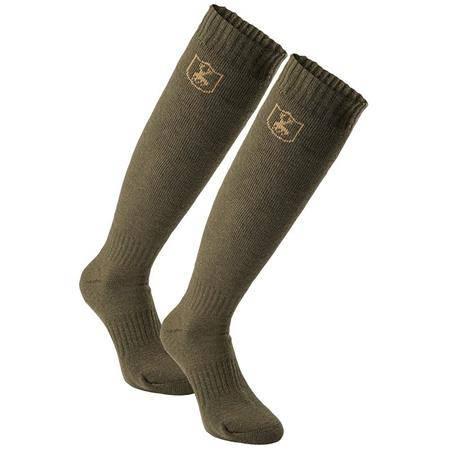 Chaussettes Homme Deerhunter Wool Socks - Kaki - Par 2