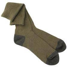 Chaussettes longues homme eiger basic vertes