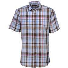 Chemise manches courtes idaho guernsey - bleu/marron