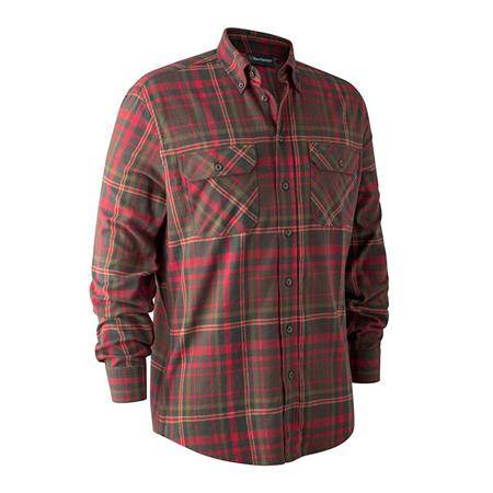 CHEMISE MANCHES LONGUES DEERHUNTER MARVIN III - ROUGE