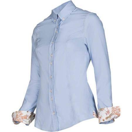 Chemise Manches Longues Femme Baleno Mary - Bleu/Fleurs