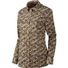 Chemise manches longues femme harkila selja lady l/s - marron/beige