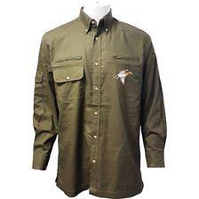 Chemise manches longues homme bartavel hunter canard - kaki