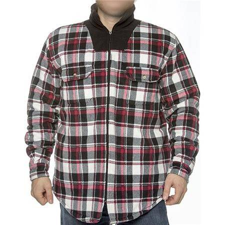 Chemise Manches Longues Homme Bartavel Timber - Noir/Rouge