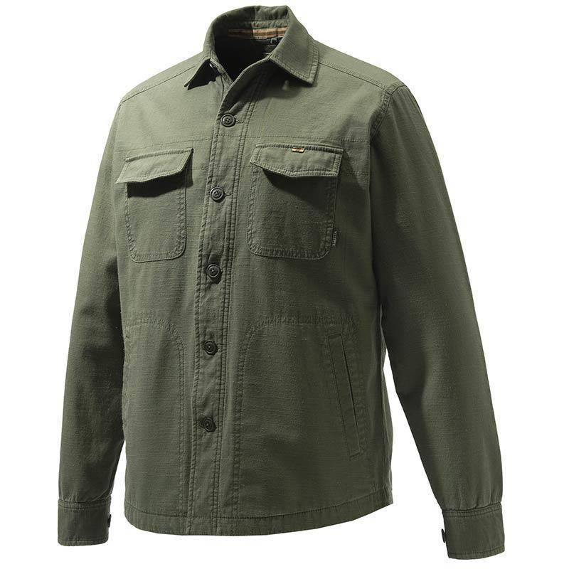 Chemise Manches Longues Homme Beretta Heavy Overshirt - Vert