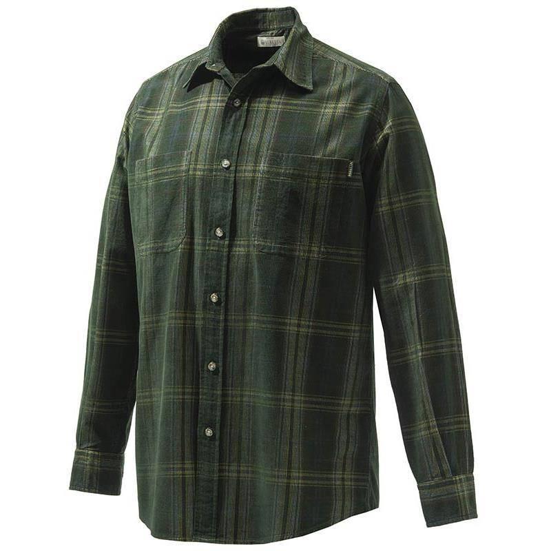 Chemise Manches Longues Homme Beretta Manchester Corduroy Shirt - Vert Carreaux Jaune