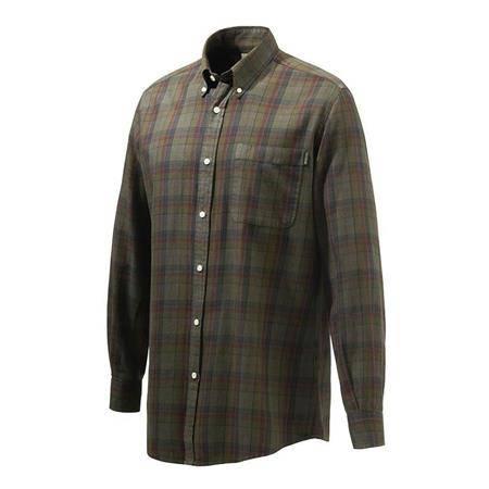 Chemise Manches Longues Homme Beretta Wood Button Down Shirt - Beige/Rouge