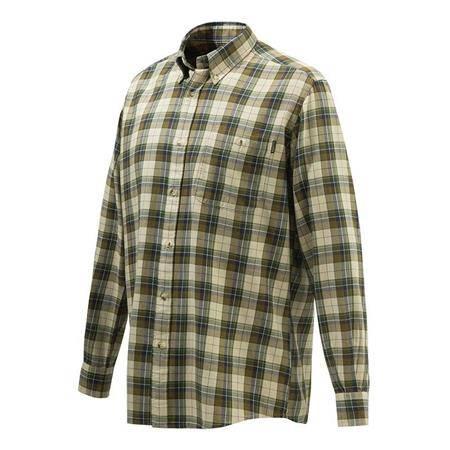 Chemise Manches Longues Homme Beretta Wood Button Down Shirt - Beige/Vert