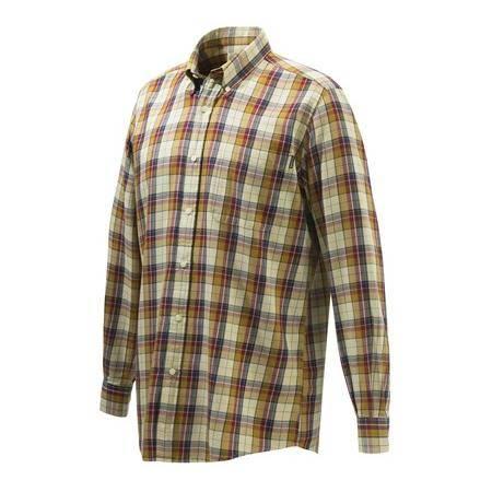 Chemise Manches Longues Homme Beretta Wood Button Down Shirt - Rouge/Beige