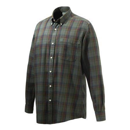 Chemise Manches Longues Homme Beretta Wood Button Down Shirt - Vert/Rouge