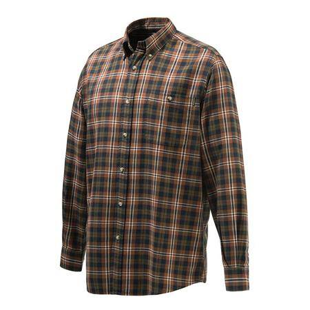 Chemise Manches Longues Homme Beretta Wood Flannel Button Down Shirt - Tabac