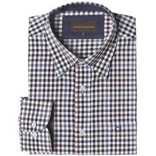 Chemise manches longues homme club interchasse nathan - noir prune
