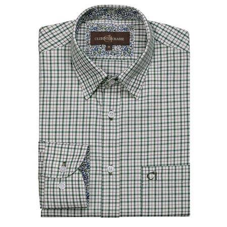 Chemise Manches Longues  Homme Club Interchasse William - Vert