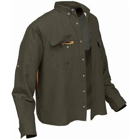 CHEMISE MANCHES LONGUES HOMME GEOFF ANDERSON POLYBRUSH 2 - VERT