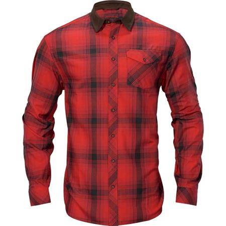 Chemise Manches Longues Homme Harkila Driven Hunt Flannel - Rouge