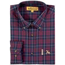Chemise manches longues homme ligne verney-carron friday wear - carreaux bleus/rouges