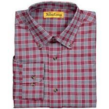 Chemise manches longues homme ligne verney-carron vernon - carreaux gris/rouges
