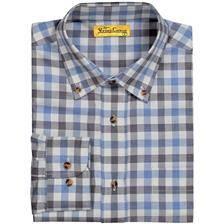 Chemise manches longues homme ligne verney-carron yveline - carreaux bleus/noirs