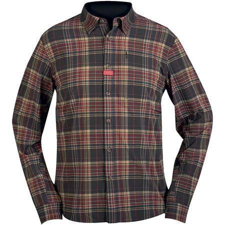 Chemises Manches Longues Homme Hart Aosta - Marron/Rouge