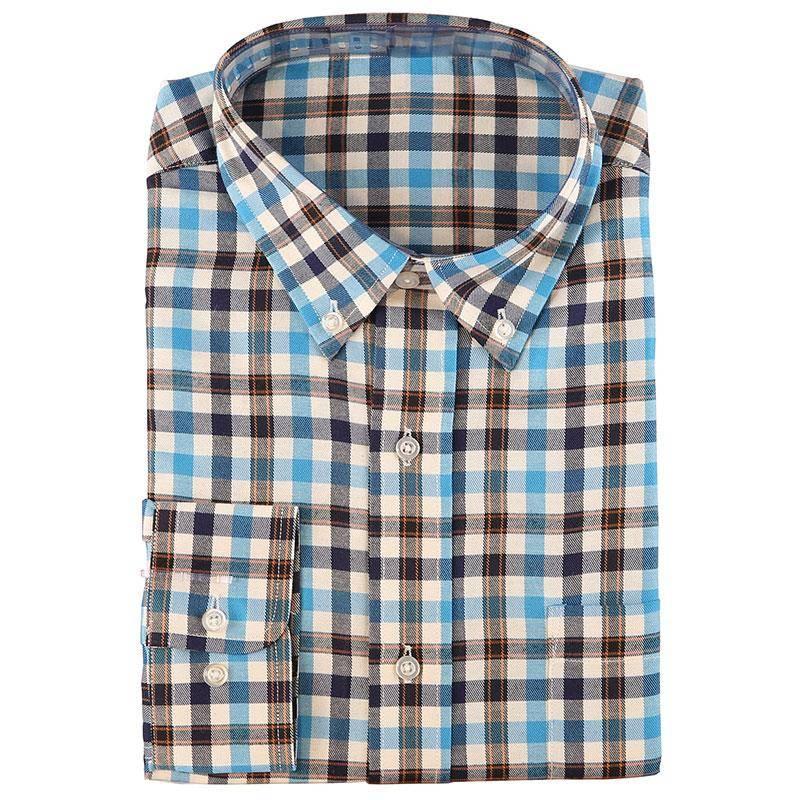 Chemises Manches Longues Homme Somlys 512 - Carreaux Bleu