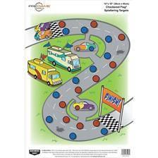 Cible birchwood-casey course de voitures pour air comprime 22 lr ou plus - par 8