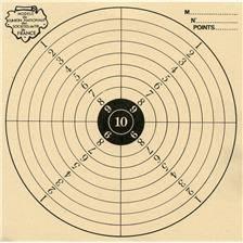 Cible noire colombi sports tir carabine 16x16 - par 500