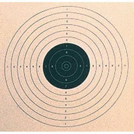 Cible Noire Colombi Sports Tir Pistolet 17X17 - Par 100