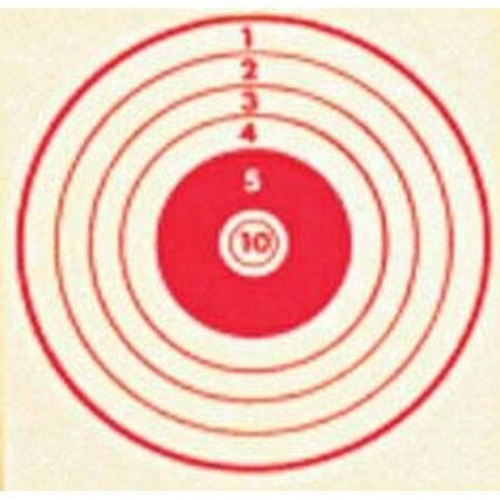 Cible Rouge Colombi Sports Tir Carabine 10 Metres 10X10 - Par 100