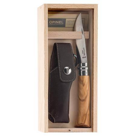Coffret Couteau Opinel Numéro 8 - Bois D'olivier