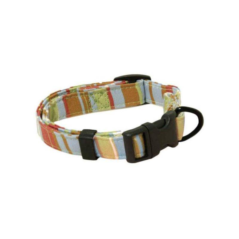 Collier Chien Reglable Image Raye