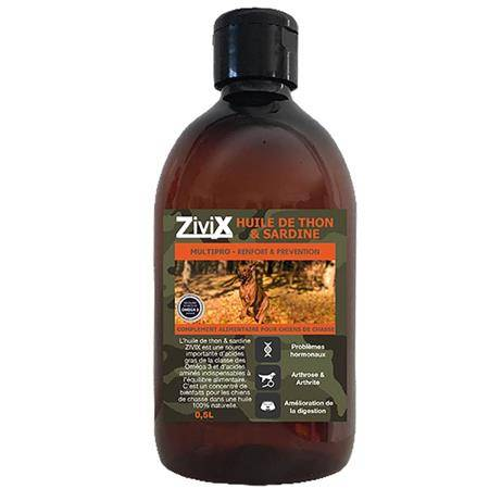 Complement Alimentaire Pour Chien De Chasse Zivix Huile De Thon Et Sardine