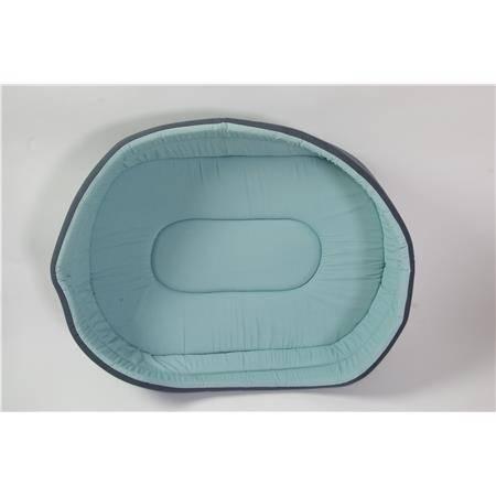 Corbeille Chien Tissu Ovale - Kaki-Bleu -  45Cm