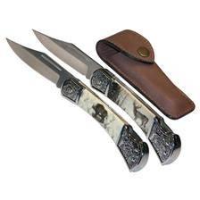 Couteau januel decore sanglier ou cerf