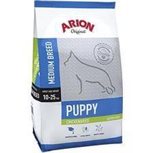 Croquettes chien de chasse arion original gluten-free puppy medium chicken & rice