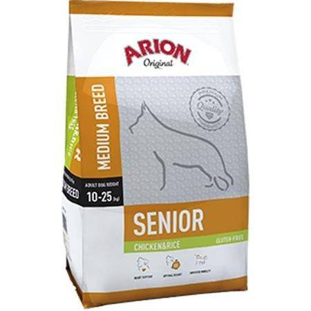 CROQUETTES CHIEN DE CHASSE ARION ORIGINAL GLUTEN-FREE SENIOR MEDIUM CHICKEN & RICE